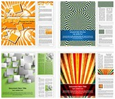 Abstract and Background Word Templates Bundle, TheTemplateWizard