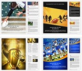 American Football Rugby Word Templates Bundle, TheTemplateWizard