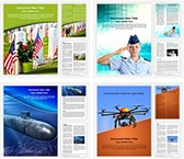 Armed forces Word Templates Bundle, TheTemplateWizard