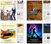 Art and Entertainment Word Templates Bundle, TheTemplateWizard