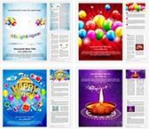 Celebration Background Word Templates Bundle, TheTemplateWizard