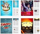 Celebration Word Templates Bundle, TheTemplateWizard