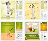 Cricket Word Templates Bundle, TheTemplateWizard