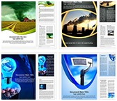 Energy and Environment Word Templates Bundle, TheTemplateWizard
