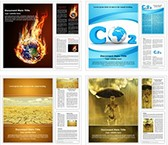 Global Warming Word Templates Bundle, TheTemplateWizard