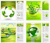 Green Environment Background Word Templates Bundle, TheTemplateWizard