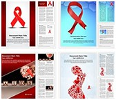 HIV AIDS Word Templates Bundle, TheTemplateWizard
