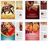 Indian Wedding Word Templates Bundle, TheTemplateWizard