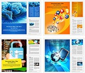 Internet Technology Background Word Templates Bundle, TheTemplateWizard