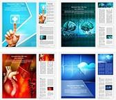 Medical Heart Background Word Templates Bundle, TheTemplateWizard
