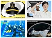 Navy PowerPoint Templates Bundle, TheTemplateWizard