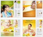 Nutritious Fruits Diet Word Templates Bundle, TheTemplateWizard