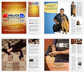 Police Word Templates Bundle, TheTemplateWizard