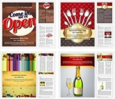 Restaurant Background Word Templates Bundle, TheTemplateWizard