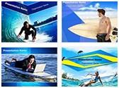 Surfer Surfing PowerPoint Templates Bundle, TheTemplateWizard