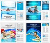 Swimming Scuba Diver Word Templates Bundle, TheTemplateWizard