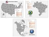 USA America PowerPoint Maps Bundle, TheTemplateWizard