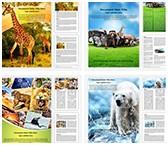 Wildlife Safari Word Templates Bundle, TheTemplateWizard