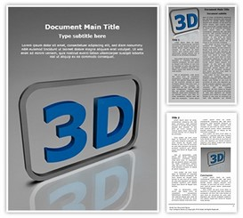 3D Word Template background, PPT 3D