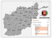 Afghanistan PowerPoint Map, TheTemplateWizard