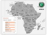 Africa PowerPoint Map, TheTemplateWizard
