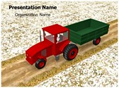 Agriculture Tractor PowerPoint Template, TheTemplateWizard