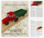 Agriculture Tractor Word Template, TheTemplateWizard