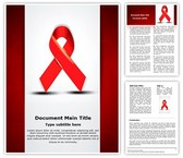 Aids Word Template background with 3 PPT slides