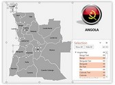 Angola PowerPoint Map, TheTemplateWizard