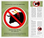 Animal Abuse Word Template background with 3 PPT slides