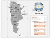 Argentina PowerPoint Map, TheTemplateWizard