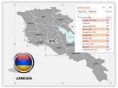 Armenia PowerPoint Map, TheTemplateWizard