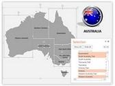 Australia PowerPoint Map, TheTemplateWizard