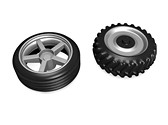 Automotive Tire Clipart Image, TheTemplateWizard