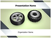 Automotive Tire PowerPoint Template, TheTemplateWizard