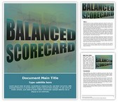 Balanced Scorecard Free Word Template, TheTemplateWizard