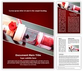 Blood Transfusion Complications Word Template background with 3 PPT slides