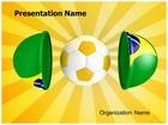 Brazil Football League Animated PowerPoint Template, TheTemplateWizard