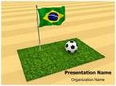 Brazil Football Match Animated PowerPoint Template, TheTemplateWizard