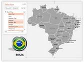 Brazil PowerPoint Map, TheTemplateWizard