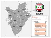 Burundi PowerPoint Map, TheTemplateWizard