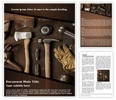 Carpenter Tools Template Combo Offer PPT 6 Slides and Word 3 Pages, thetemplatewizard