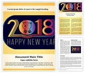 Chinese Dog Year Word Template, TheTemplateWizard