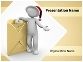 Christmas Email PowerPoint Template, TheTemplateWizard