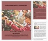 Christmas Free Word Template, TheTemplateWizard