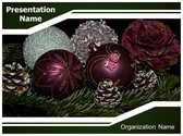 Christmas Ornament Balls PowerPoint Template, TheTemplateWizard