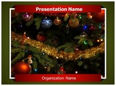 Christmas Ornaments Decoration PowerPoint Template, TheTemplateWizard