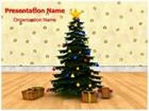 Christmas Tree Star Animated PowerPoint Template, TheTemplateWizard