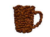 Coffee Beans Cup Clipart Image, TheTemplateWizard