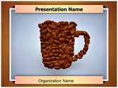 Coffee Beans Cup PowerPoint Template, TheTemplateWizard